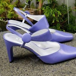 Purple leather heels by Bellini size 9 new